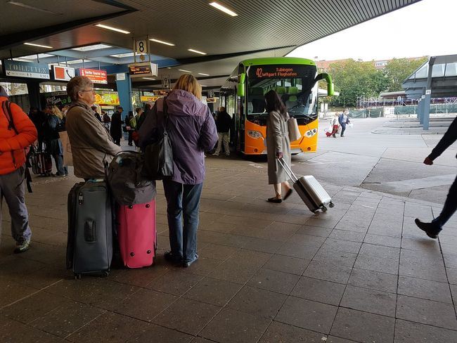 Travel Traveling Adult Bus Station City Day Large Group Of People Lifestyles Luggage Luggage, Travel  Outdoors People Real People Standing Suitcase On Wheels Zob  Discover Berlin The Week On EyeEm