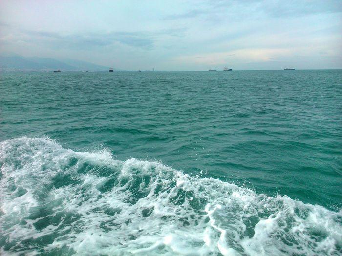 Dalgalar Köpükler Deniz üstünde Uçmaca