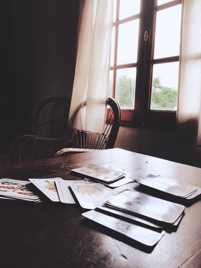 Atmosphere of cards Card Window Indoors  Day Table No People Sunlight My Best Travel Photo My Best Travel Photo