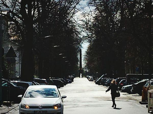 Big sundial? Street Photography Pedestrian Cars Parked Cars Obelisk Fountain Street Scene Brunswick Braunschweig