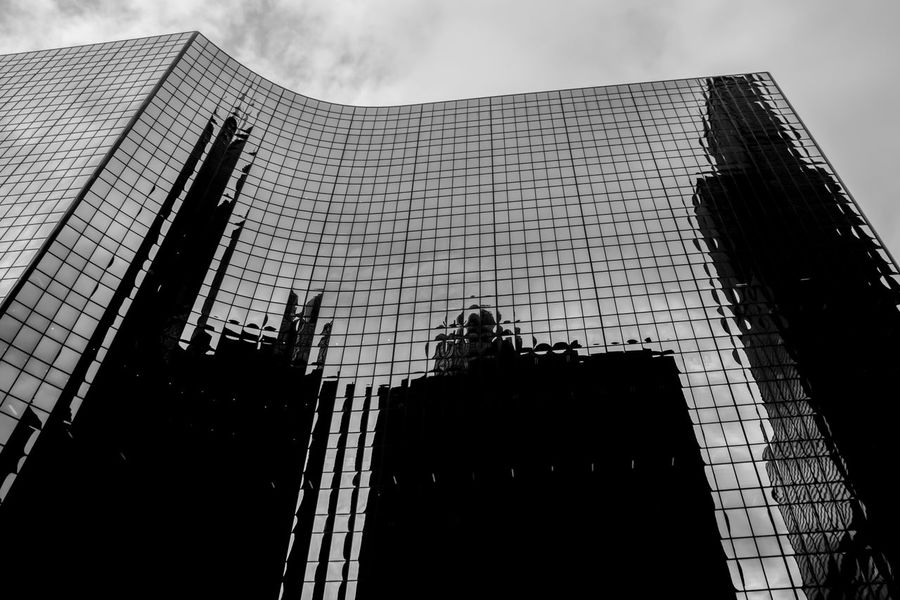 Abstract Architecture Blackandwhite Building Exterior Built Structure City City Cityscape Corporate Business Day Growth Low Angle View Modern No People Outdoors Reflection Sky Skyscraper Tall The Graphic City