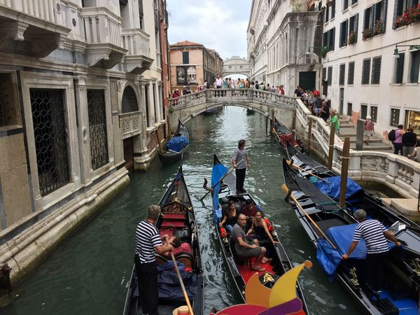 Adult Adults Only Architecture Building Exterior Canal City Cityscape Cloud - Sky Cultures Day Gondola - Traditional Boat Gondolier Men Nautical Vessel Oar Outdoors People Rowing Sky Transportation Travel Travel Destinations Vacations Women