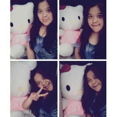 The most big HK from dy brother <3 Me Selca Takeaselca With Pink HK doll mine cute loveit nice random tshirt 4pages instapict instacool tagsforlove likeme flwme