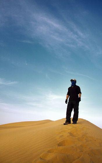 Politics And Government Full Length Sand Dune Weapon Men Desert Standing Headwear Sky