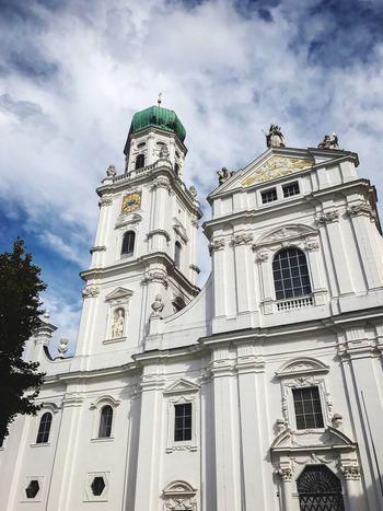 Passau, Germany Low Angle View Architecture Sky Cloud - Sky Spirituality Religion Built Structure Building Exterior Place Of Worship Day Outdoors No People