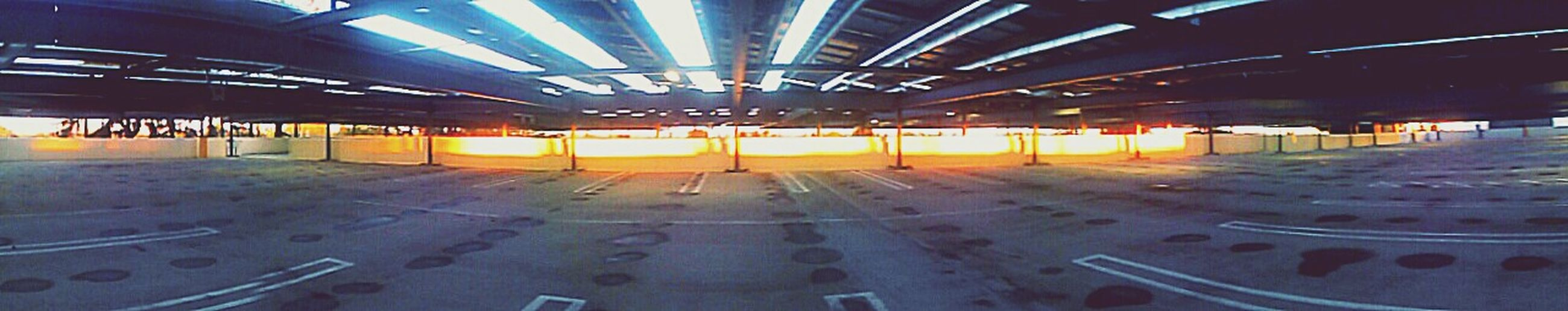 Panoramic Panoramic Photography Panorama Panoramic View Parking Garage Parkingstructure Parkinggarage Light Shining Shining Through Concrete