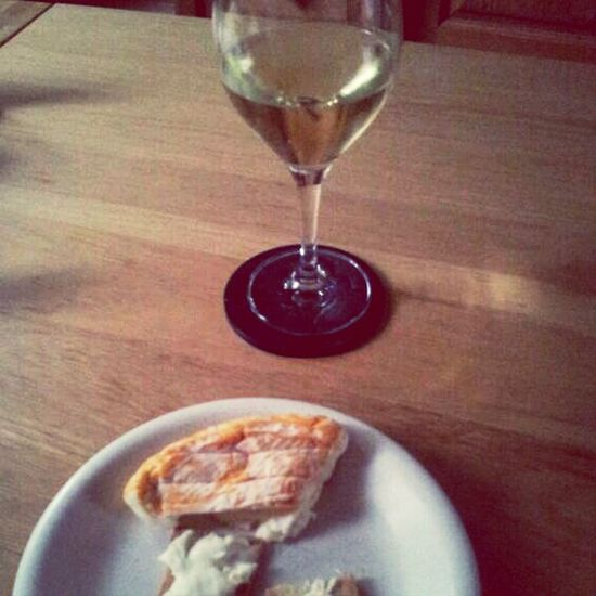 Melba toast, la Marcaire, small glass Chardonay :) Cheese And Wine Show Me Your Dinner! Meat Free Monday