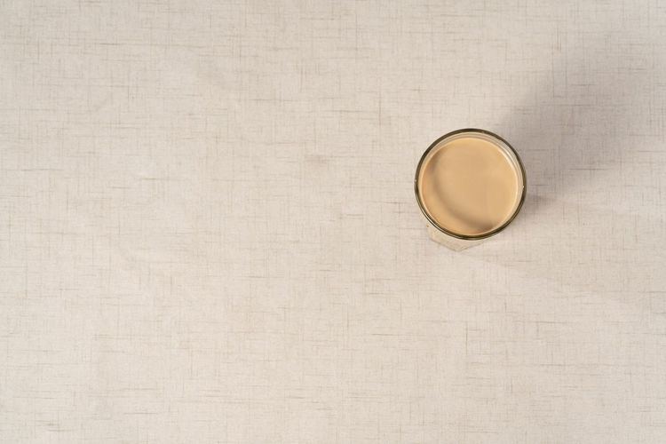 Circle Brown Geometric Shape Copy Space Textured  No People High Angle View Drink Beige Still Life Directly Above Shape Indoors  Backgrounds Close-up Studio Shot Paper Food And Drink Refreshment