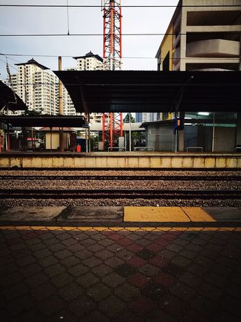 waiting for the train 🚎 City Sky Architecture Built Structure Building Exterior Railroad Station Platform Public Transportation Railway Station