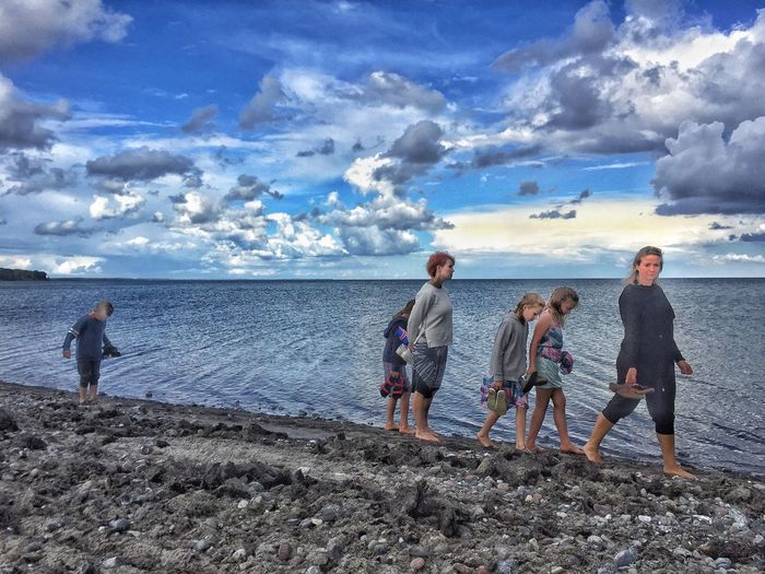 A Day At The Beach Life Is A Beach Clouds And Sky Sky_collection Cloud_collection  Coastline Coast Denmark Summer Beachphotography Water Reflections At The Sea Sea And Sky Ocean Vacation Family Kids