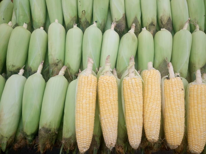 Close-Up Of Corns For Sale At Market