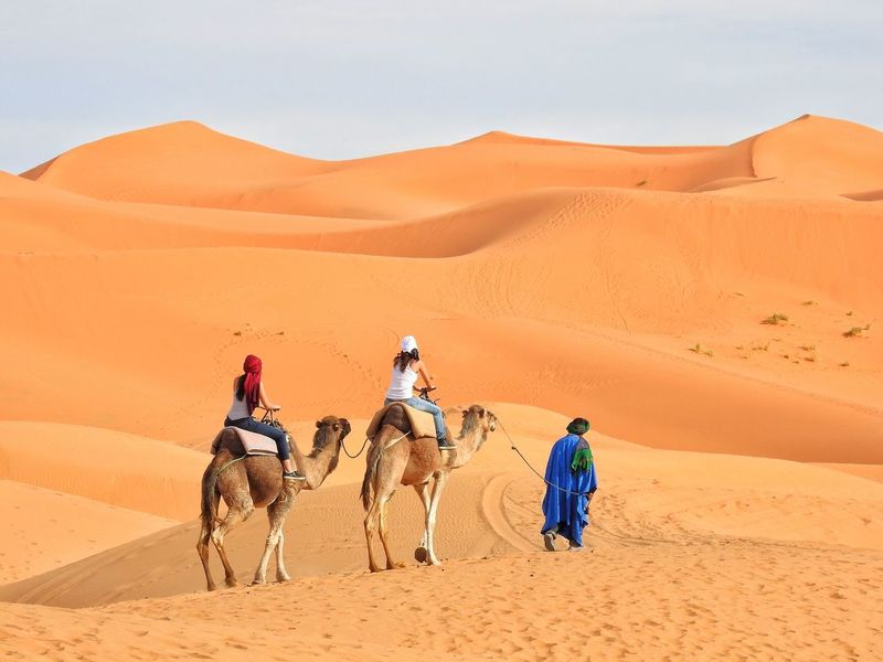 Hiking Hikingadventures Hanging Out Hello World Camels Dromedary Beduin Sand Dune Desert Walking Enjoying Life Morocco Traveling Sahara Desert Camel Ride Caravan Dunes Market Reviewers' Top Picks
