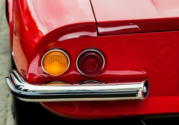 Classic Car Tailight Car Chrome Close-up Day Glass - Material Headlight Land Vehicle Luxury Metal Mode Of Transportation Motor Vehicle No People Red Retro Styled Shiny Stationary Tail Light Transportation Vehicle Light Vintage Car Wealth