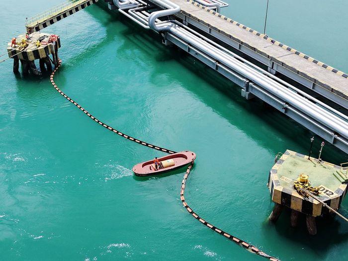 Nautical Theme Nauticallife Life Onboard Motor Boat Mooring Boat Oil Boom Oil Tank Oil Tanker Ship Oil Terminal Madre De Deus
