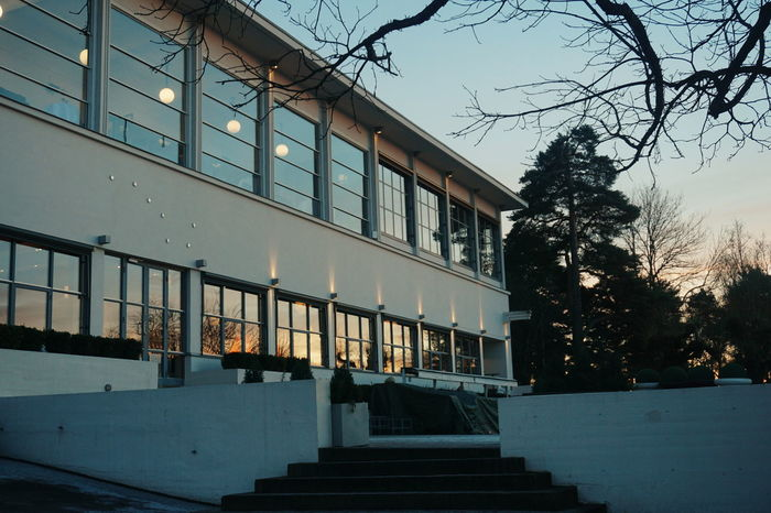 The Ekeberg Restaurant, Oslo, Norway Architecture Outdoors No People Oslo, Norway Travel Destinations Ekeberg Ekebergparken Ekebergrestauranten Norway Oslo Restaurant Architecture Built Structure Building Exterior City Sunset Travel Tourism