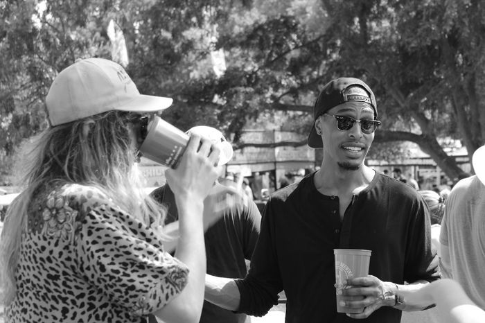 Art Fair B&w B&w Photography B&W Portrait Casual Clothing Check This Out Day Fashion Fashion Photography Focus On Foreground Friends Headshot Leisure Activity Lifestyles Outdoors Portrait Portrait Of A Friend Portraits