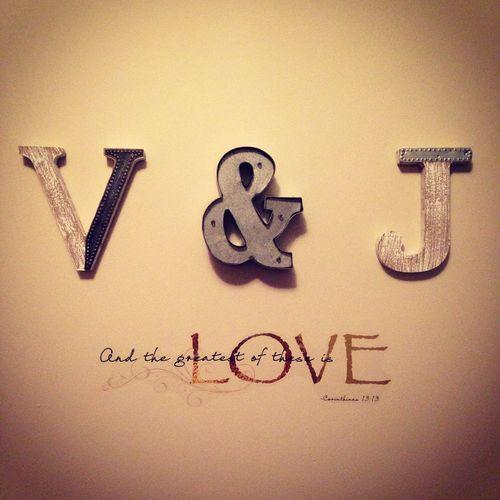 Love Vance Joani Bedroom Wall Ourhome Initials