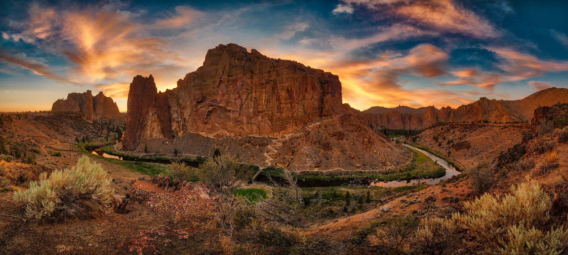 Smith Rock State Park near Bend in Central Oregon Landscape Photography Landscape_Collection Oregon Oregon Beauty Smith Rock Smith Rock State Park Beauty In Nature Cloud - Sky Crooked River Environment Formation Land Landscape Mountain Nature No People Non-urban Scene Oregonexplored Outdoors Rock Rock Formation Scenics - Nature Sky Tranquil Scene Tranquility