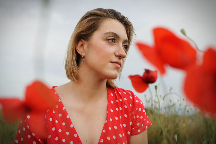 Lady in the poppies