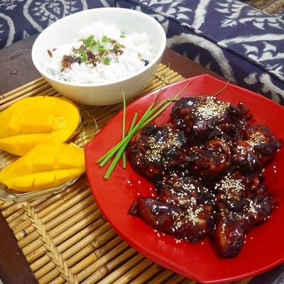 Baked Chicken Teriyaki for lunch Cooking Mystressreliever Lunch Postdutylamon