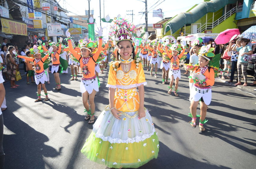 City Colorful Festival Parade Sampaguita Smiling :) Street Street Dancing