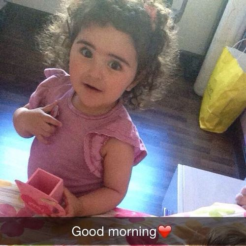 Good Morning_with_my_little_one Cuty_little_pie Love_her_a_lot❤️❤️