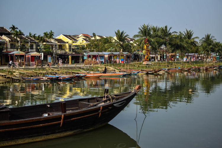 Boats in Hue Boat Boats Canal Tourist Attraction  Light Colors