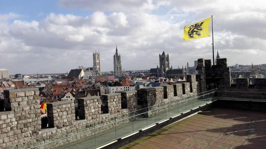 Politics Cloud - Sky Flag Cityscape Patriotism Architecture City Sint-niklaaskerk Belfort Sint-Baafskathedraal