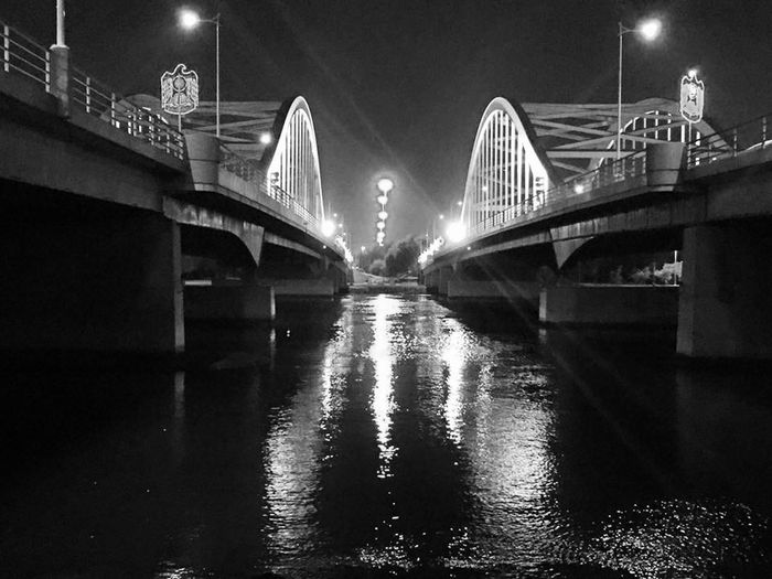 The famous Al Maqta Bridges constructed in 1967 in Abu Dhabi at night! Bridge Bridges Abudhabi Abu Dhabi Maqta Bridge Al Maqta Bridge 1967 Constructed United Arab Emirates