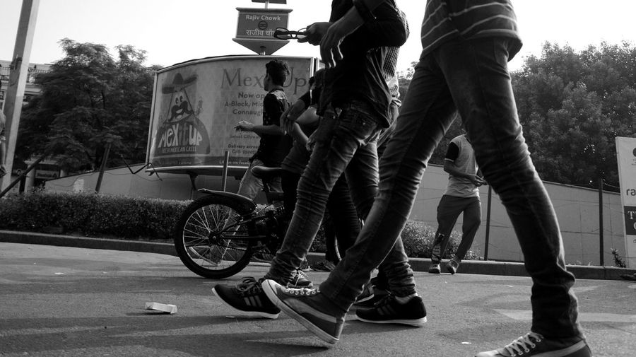 Streetphotography Black And White Photography People Photography Urban Lifestyle Fun Times ^_^ On The Road Delhi India Things I See CannaughtPlace