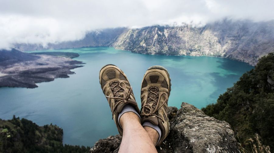Relaxing and enjoying the view @ mount rinjani Beautiful View Mountains And Sky Mountain Hiking Rinjani Lake View Crater Lake Volcano Crater Shoes Relaxing Over The Top Market Bestsellers April 2016 Market Bestsellers May 2016 Market Bestsellers July 2016 Bestsellers