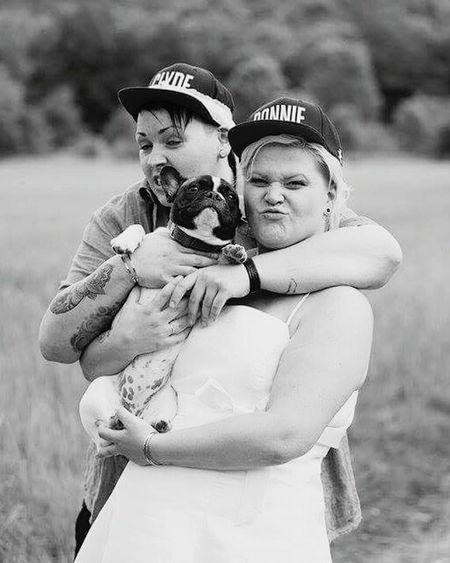 Weddings Around The World Taking Photos Wedding Photography ISaidYes! Lesbianwedding Weddingday  Wedding Dress LesbianCouples Savethedate Fairytale  Frenchbulldog Our Babygirl