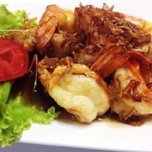 น่ากินไหมครั กุ้งซอสมะขาม MangoCoffee & Restaurant