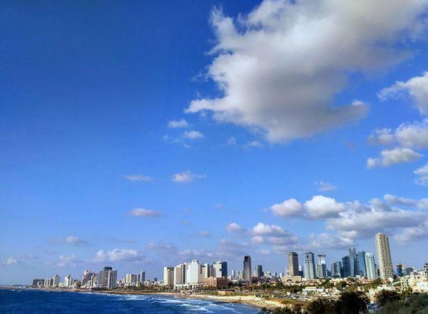 Telaviv Telavivcity Telavivbeach Cloud - Sky Sky Travel Destinations Outdoors Urban Skyline Blue Sea Beach Cityscape