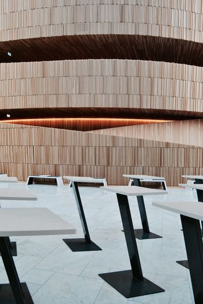 Cafe Osloarchitecture Oslo Norway Oslo Operahuset Oslo Norway Sights & Views  Operaen  Sight Contemporary Oslo Opera House Interior Design Wood - Material Marble Wood Interior The Architect - 2016 EyeEm Awards My Design Story