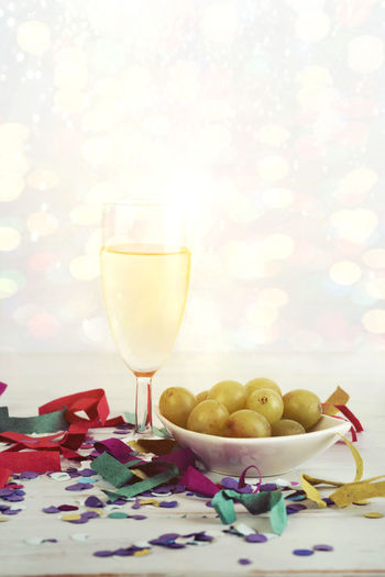 Celebration Champagne Cotillion Countdown December Luck New Year SPAIN Alcohol Buble Celebrate Confetti Drink Drinking Glass Food And Drink Glass Grape Happy New Year Merry Christmas New Year Eve Party Refreshment Serpentine