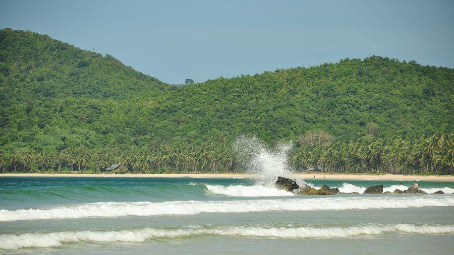 Waves Crashing Sea