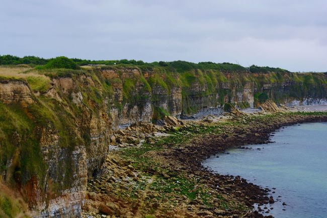 Normandie France Europe Pointe Du Hoc Dday Cliffs Green Military Rangers History Ocean Rocks