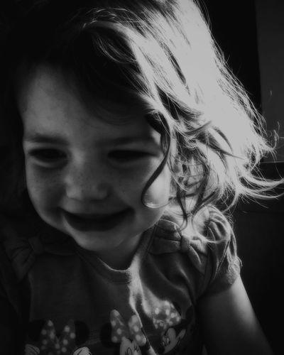 Portrait of my Little Daughter Faye Monochrome