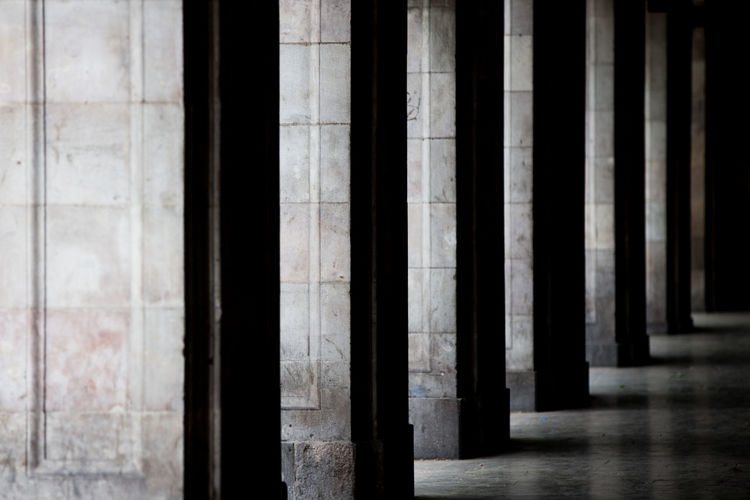Arcade Architectural Column Architecture Building Built Structure Columns Corridor Grey In A Row Light And Shadow Minimalism Pattern The Architect - 2018 EyeEm Awards