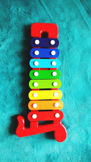 Colorfull Xylophone Education Game Toy Child Wooden Multi Colored Close-up Green Color School Supplies Board Game