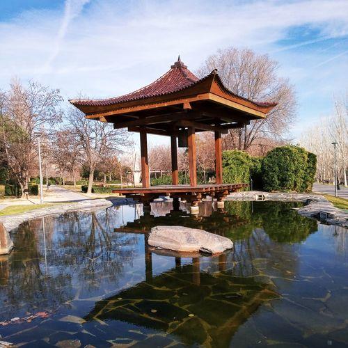 Japanese garden in the centre of spain.
