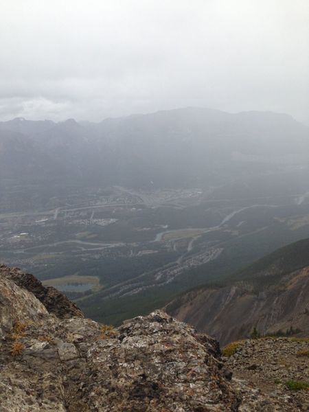 summit overlooking at Canmore Canadian Rockies  Moutaineering On A Hike Alberta
