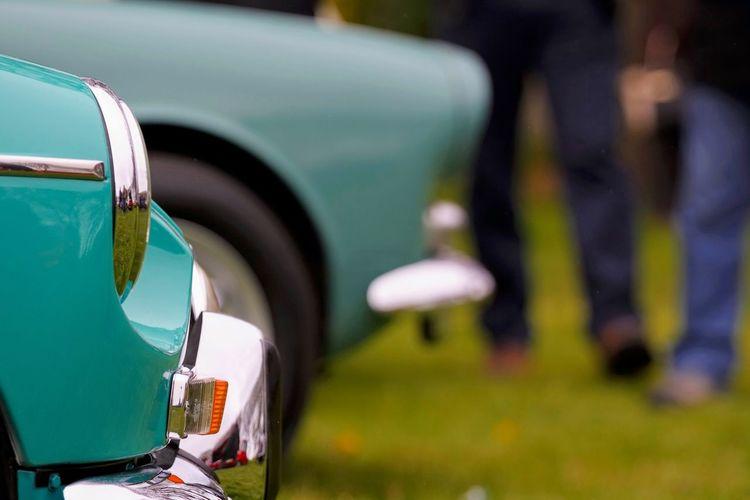 Close-up vintage car
