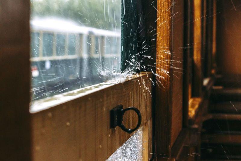 Window Indoors  Close-up Raindrops RainyDay Water Drops WeekOnEyeEm Train Interior Train Window