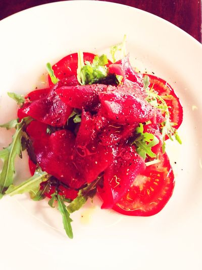 Food Porn Awardswards Tuna Carpaccio Delicious Tuna Food Red White Yummy♡ Foodporn