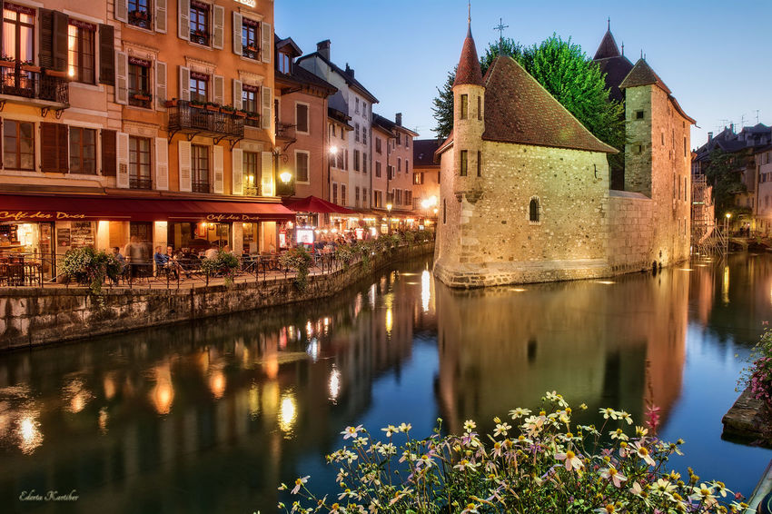 Annecy, France Castle Reflection Hora Azul