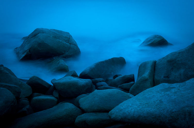 Long exposure of rocks