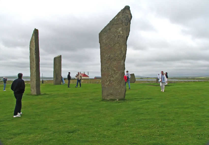 The neolithic site of the Stones of Stenness - near Kirkwall, Orkney Islands, Scotland Kirkwall, Orkney Orkney Islands Stones Of Stenness Cruise Destination Green Grass Neolithic Stones Standing Stones Stormy Day