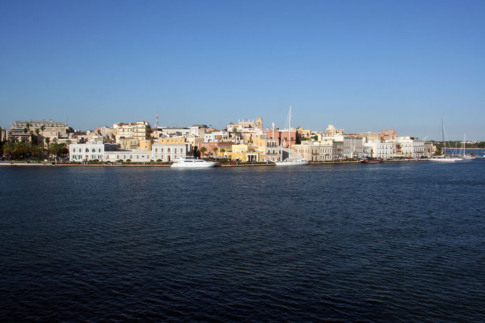 View of Brindisi from the ship Puglia Puglia South Italy South Italy Architecture Building Exterior Built Structure City Cityscape Clear Sky Italy Outdoors Residential Building Rippled Rippled Water Sea Travel Destination Urban Skyline Urban Skyline City Building Exterior View Into Land Water Waterfront Yacht